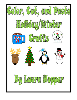 Color, Cut, and Paste Winter/Christmas Crafts