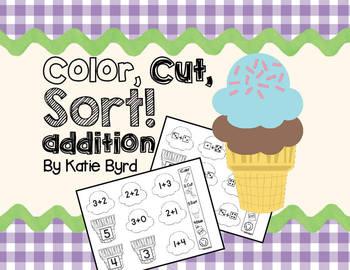 Color, Cut, Sort! Addition