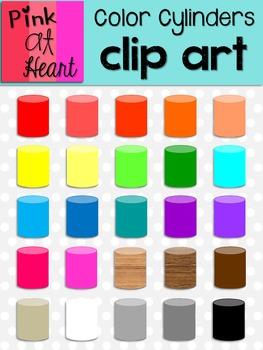 Color Cylinders Clip Art