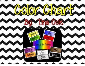 Colors Display Chart