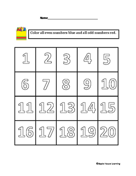 Color Even and Odd Numbers - FREE