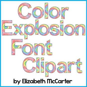Font: Color Explosion Font Clip Art