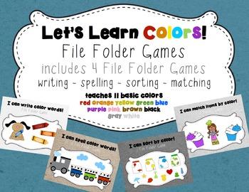 Color File Folder Games
