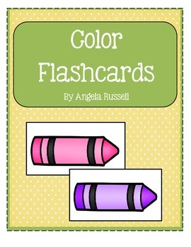 Color Flashcards ~ Back To School Assessment Tool