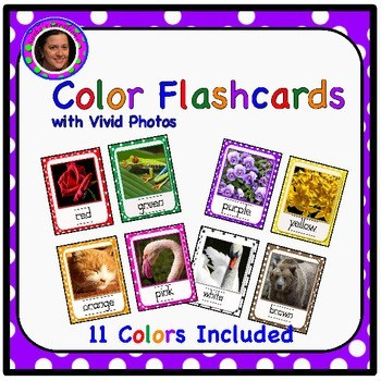 Color Flashcards with Real Pictures