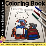 Color For Fun - Back to School and Apples - Coloring Pages