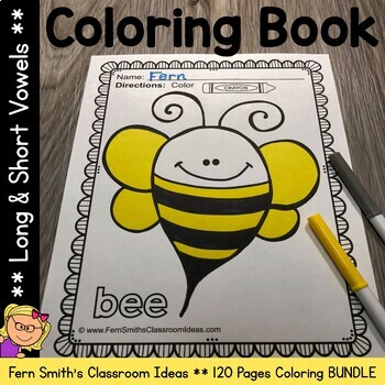 Coloring Pages for Long Vowels and Short Vowels