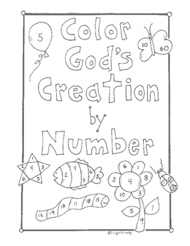 Color God's Creation by Number for preschool