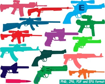 Color Hunting Gun Silhouette Clip Art toy community heroes