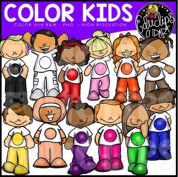 Color Kids Clip Art Bundle {Educlips Clipart}