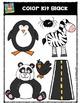 Color Kit Black {P4 Clips Trioriginals Digital Clip Art}