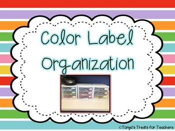 Color Labels for Organization!
