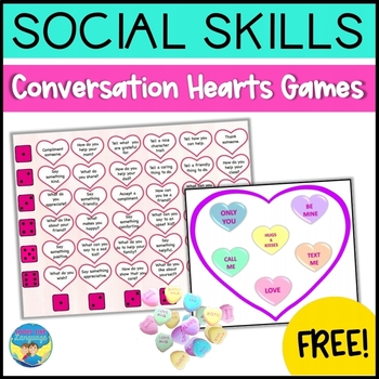 Social Language and Color Match Conversation Hearts Game