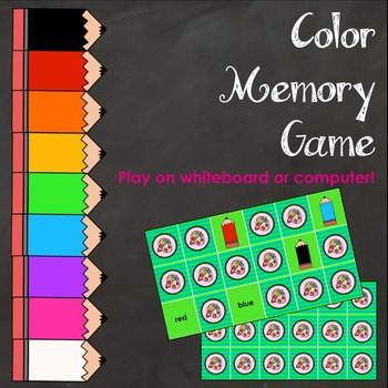 Color Match Game for Whiteboard or Computer
