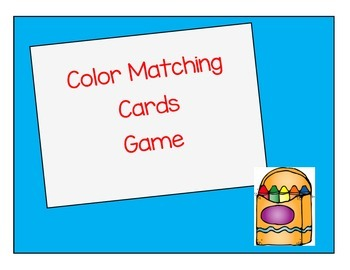 Color Matching Cards