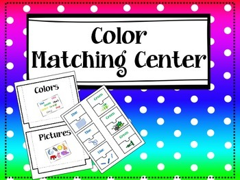 Color Matching / Center / Lapbook