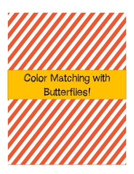 Color Matching File Folder - Butterfly Theme