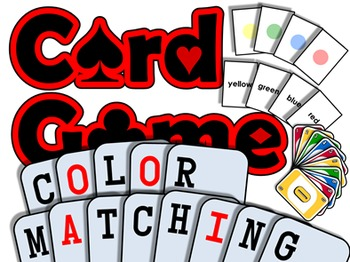 Color Matching PRINTABLE CARD GAME (English Communication