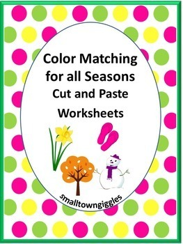 Colors Matching For All Seasons No Prep Worksheets ,K, Spe