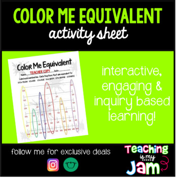 Color Me Equivalent-Fractions on Number Line