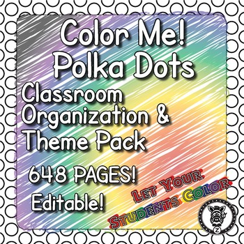 Classroom Theme Decor / Organization - Mega Bundle Editabl