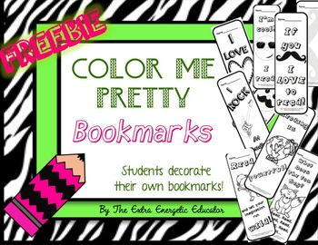 Color Me Pretty Bookmarks {FREEBIE}