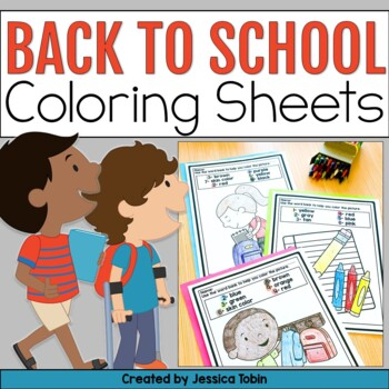 Back to School Activites- Coloring Sheets