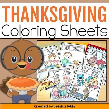 Thanksgiving Coloring Sheets