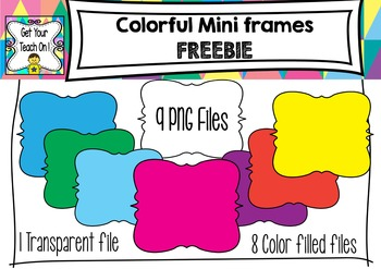 Color Mini Frames ~ FREEBIE