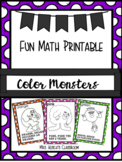 Color Monster Posters with Catchy Rhymes for Preschool- Ki