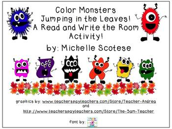 Color Monsters Read and Write the Room