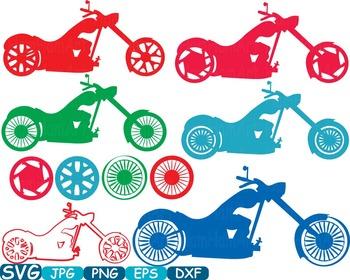 Color Motorbike Monogram Cutting Files SVG Motorcycle moto