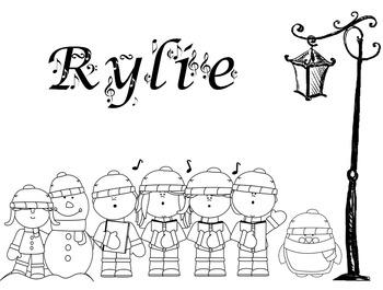 FREE! Color My Name - Christmas 3