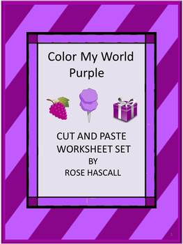 My World Purple Cut and Paste Worksheets P-K, K, Special E