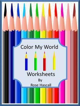 Colors Preschool or Kindergarten Math & Literacy Centers N