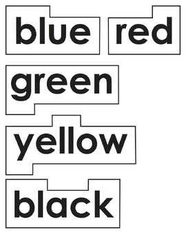Color & Number Words for Word Wall