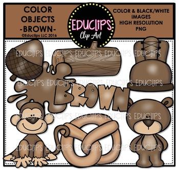 Color Objects - BROWN - Clip Art Bundle
