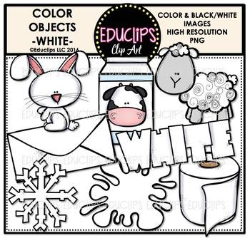 Color Objects - WHITE - Clip Art Bundle