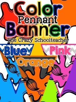 Color Pennant Banner {Paint}