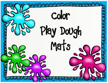 Color Play Dough Mats