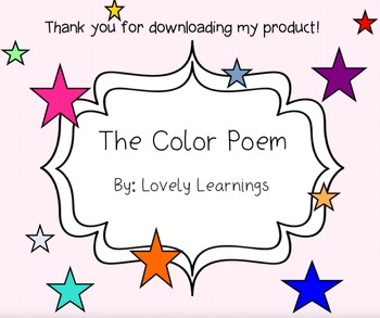 Color Poem SmartBoard Slides