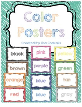 Color Posters - Crayon Scribble