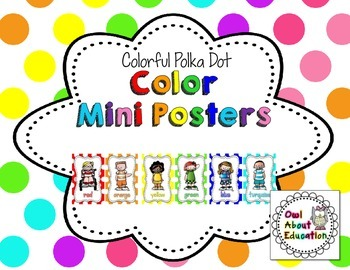 Color Posters {Bright Polka Dot}