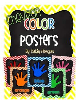 Color Posters - Chevron and Chalkboard