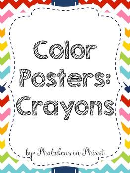 Rainbow Chevron Color Posters (Crayons)
