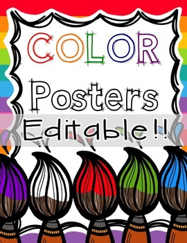 Color Posters - Editable