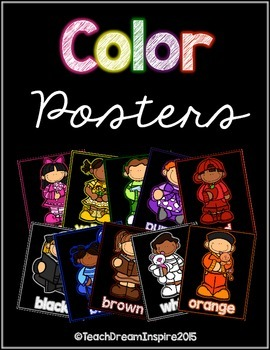 Color Posters {Kids on Black Background}