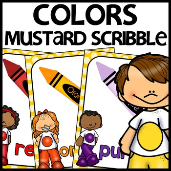 Color Posters MIX AND MATCH (MUSTARD Polka Dot Scribble)