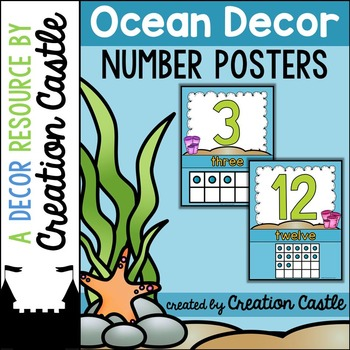 Number Posters - Ocean Decor