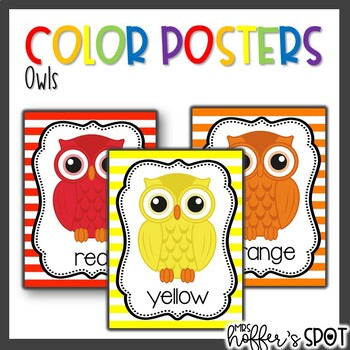 Color Posters {Owls}